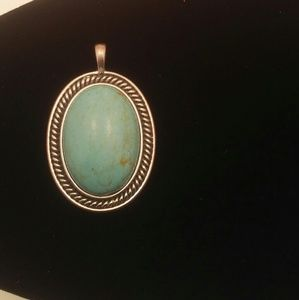Turquoise Charm Oval Shaped Gold Back (55)
